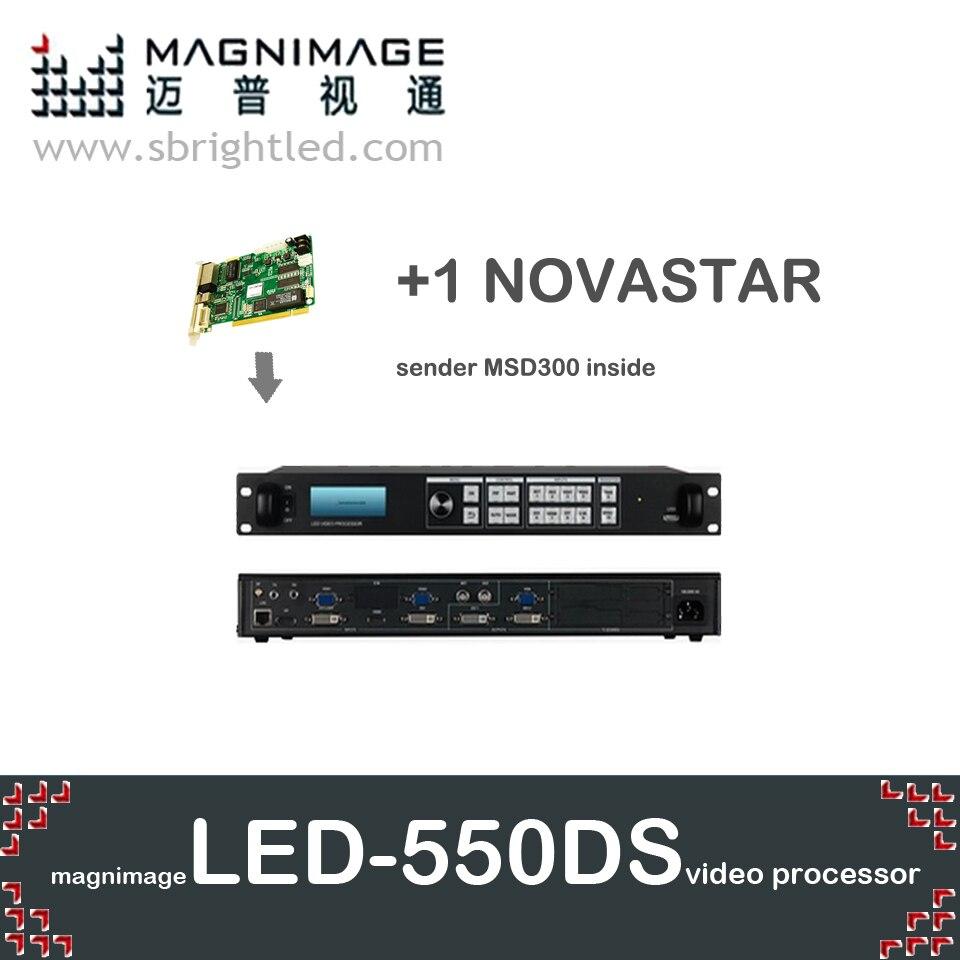 Livraison gratuite MAGNIMAGE LED-550DS + 1 NOVA novstar MSD300 SDI processeur vidéo led550ds prend en charge linsn TS802 colorlight it7 S2 dbstar