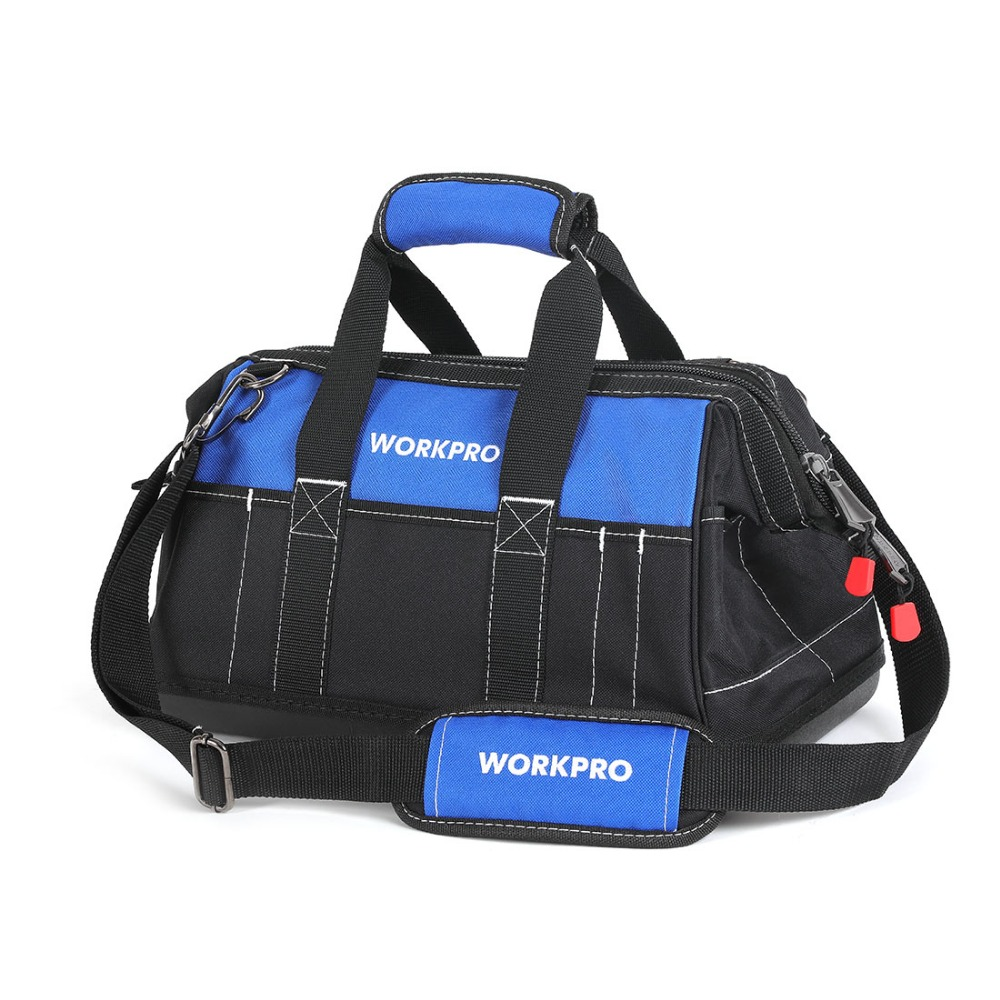 WORKPRO 4 size tool kit bag waterproof Storage tool Bag Men's Multifunction Bag tool organizer electrician Shoulder Bag 1 pcs tool kit pack hardware repair kit tool bag electrician work multifunction durable mechanics oxford cloth bag organizer bag