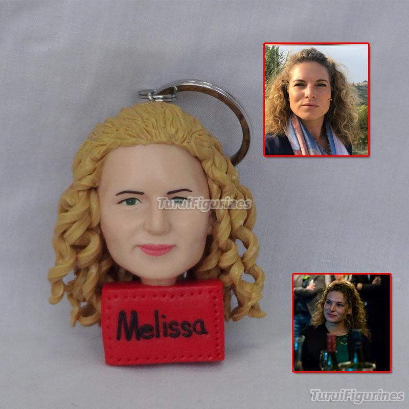 mini me mini you Custom Wedding Gift Birthday present from photo Polymer Clay Figurines Based On Photo pet keychain gift