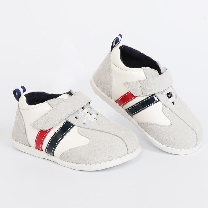 TipsieToes Marque de Haute Qualité En Cuir Véritable Couture Enfants Enfants Chaussures Pour Garçons Et Filles 2018 Automne Nouvelle Arrivée blanc
