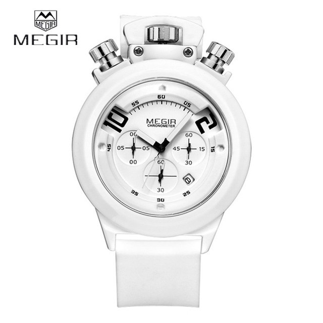 MEGIR Quartz-watch Mens designer watches luxury watch Sport Men Function Stopwatch Clock Male Army Quartz Watch Hour Wristwatch