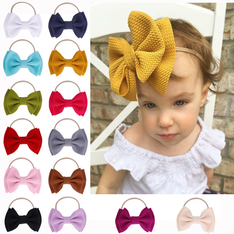 Baby Headband Baby Girl Headbands For Girls Turban Baby Headwrap Newborn Bows Headband Nylon Bow Hair Accessories