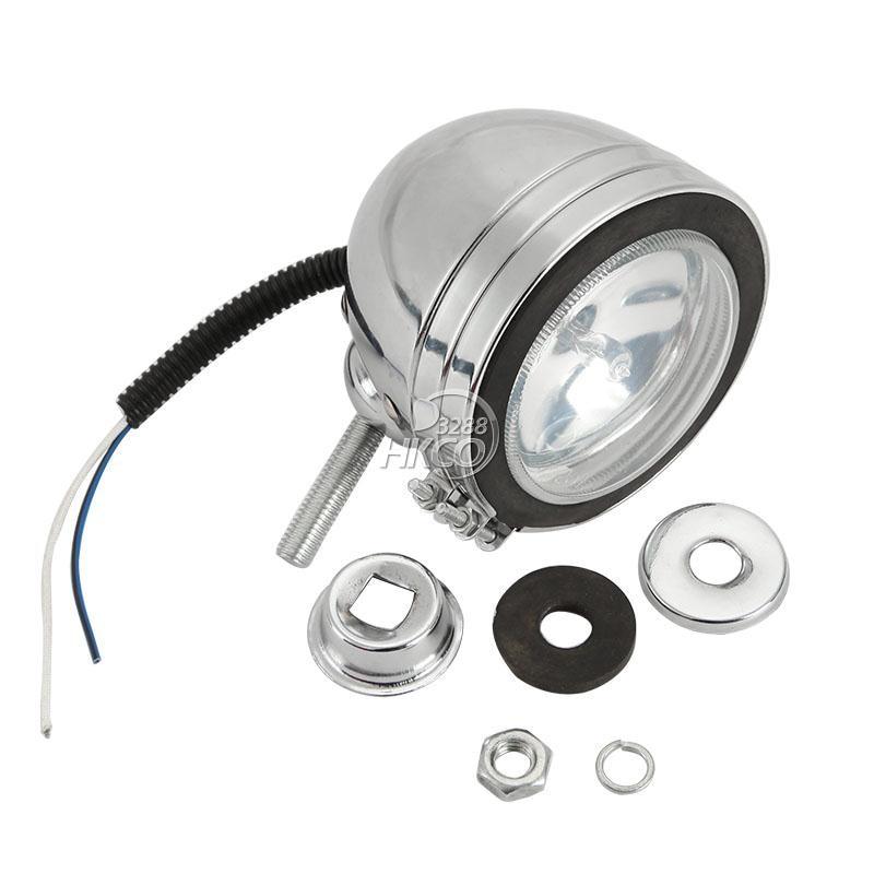 """Spotlight Headlight: Free Shipping 4"""" Round Custom Motorcycle Halogen Spotlight"""