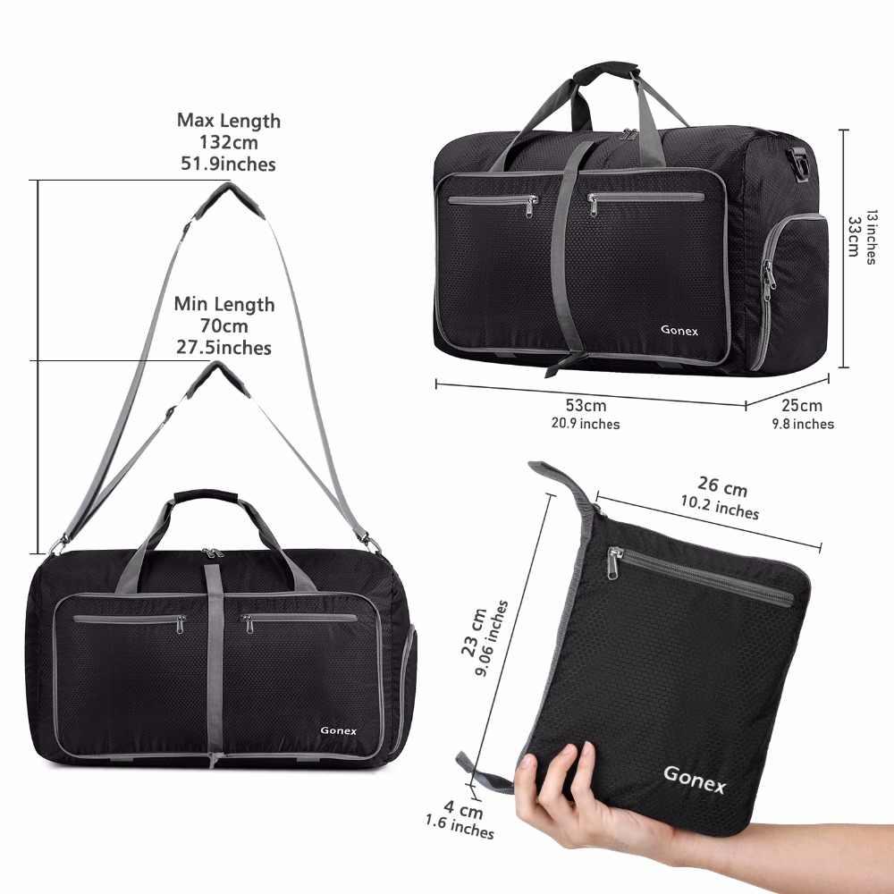 19d537abac73 ... Gonex 40L путешествия вещевой мешок Packable сумки чемодан сумки для  мужчин женщин Тактический военная Униформа поездки ...