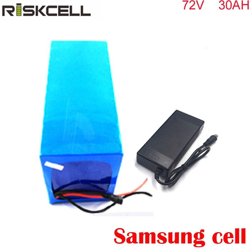 72V 30Ah bricolage e-bike-Akku 72V 3000w batterie au Lithium pour Scooter électrique Citycoco avec chargeur BMS PVC Pack pour Samsung cell