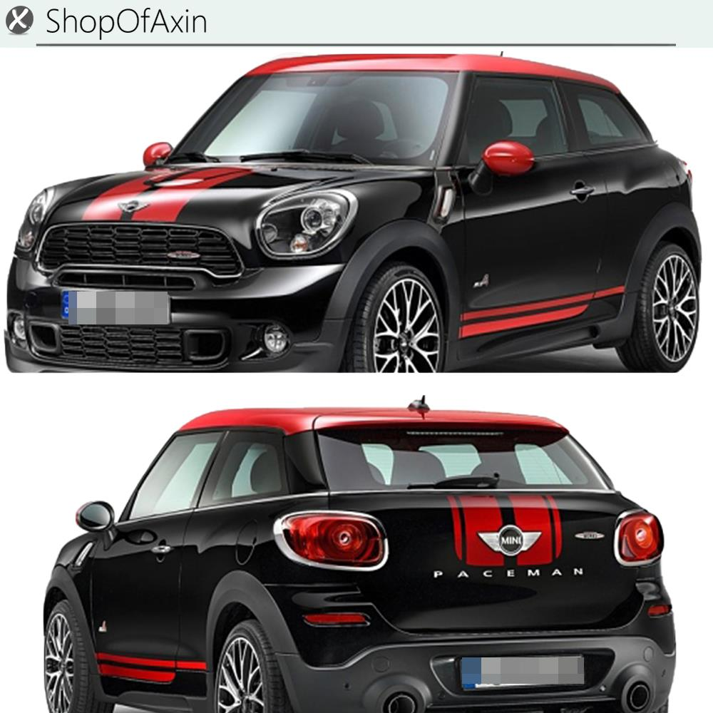 Car Hood Luggage Trunk Rokcer panel Decoration Sticker JCW Style Decal Stickers For Mini Cooper R60 R61 Paceman  Countryman 100 mixed sticker car styling skateboard laptop luggage snowboard car fridge phone diy vinyl decal motorcycle stickers covers
