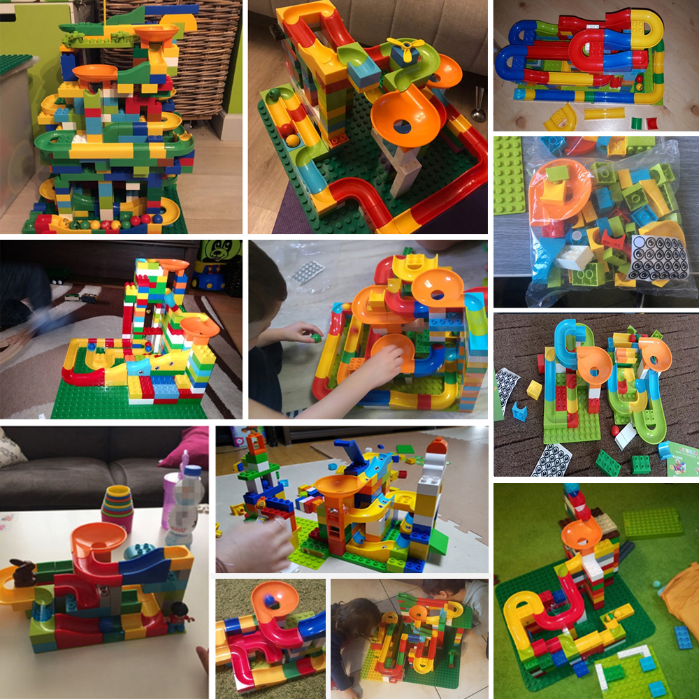 DIY ABS Building Blocks Track Assemble Bricks Compatible LegoING Duplo Education Toy for Baby Christmas Gift цена 2017