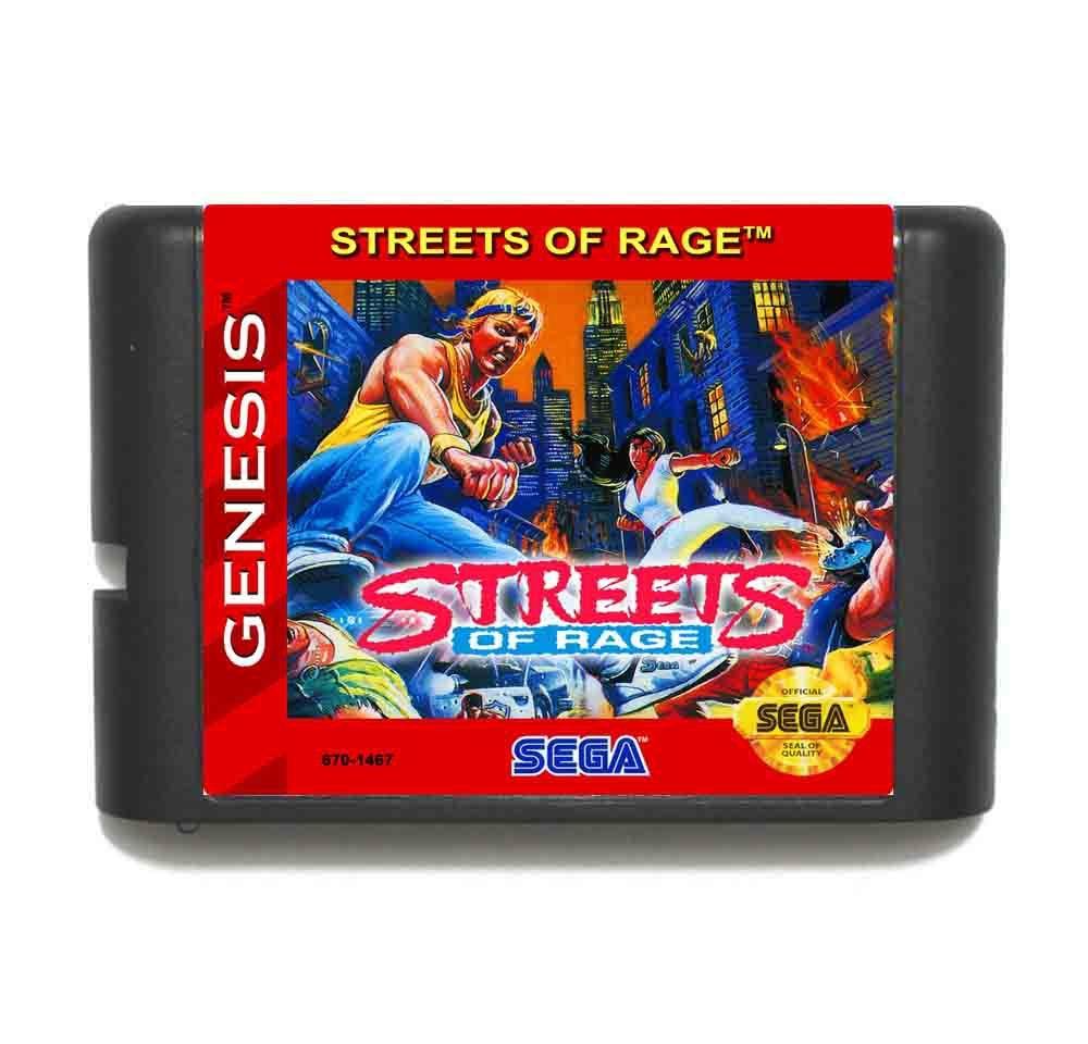 Street Of Rage 16 bit MD Game Card For Sega Mega Drive For Genesis цена