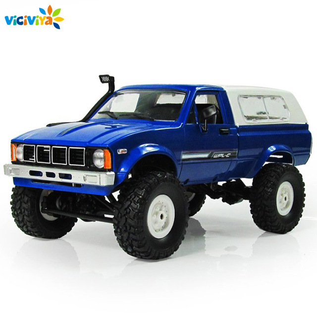 New WPL C24 Car Remote Control 2.4G RC Crawler Off-road Car Buggy Moving Machine 1:16 RC Car 4WD Kids Battery Powered Car