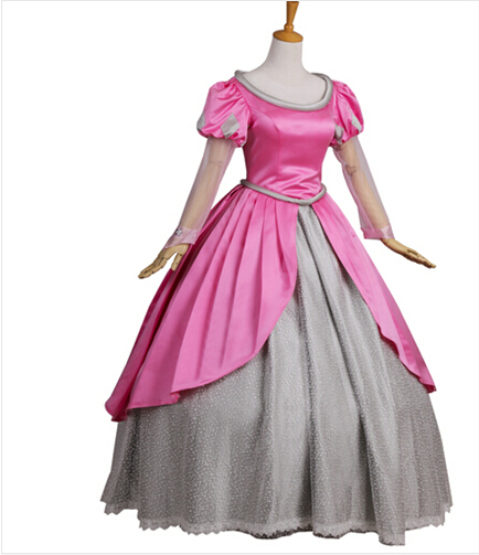 New 2017 Women Pink The Little Mermaid Princess Ariel Dress Halloween Cosplay Costume