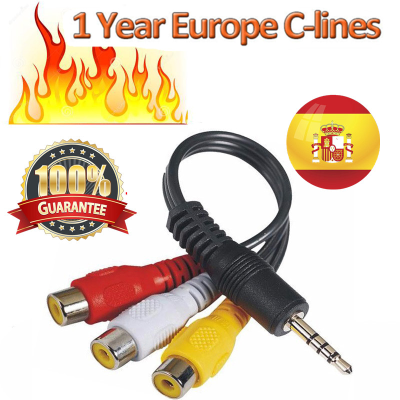 7 Lines 1 Year CCCAM Lines For Digital TV Satellite Receiver DVB-S2 Receptor Set Top Box One Year Cccam Cline Spain