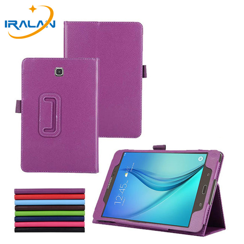 Hot Litchi Smart sleep PU leather stand case for Samsung Galaxy Tab A 8.0 T350 T351 T355 P350 tablet e cover +pen wholesale luxury tablet case cover for samsung galaxy tab a 8 0 t350 t355 sm t355 pu leather flip case wallet card stand cover with holder