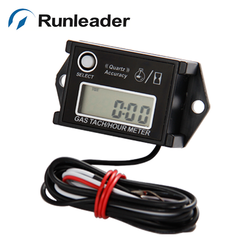 Digital Resettable Inductive Hour Meter Tachometer For Outboard Motor Waterproof