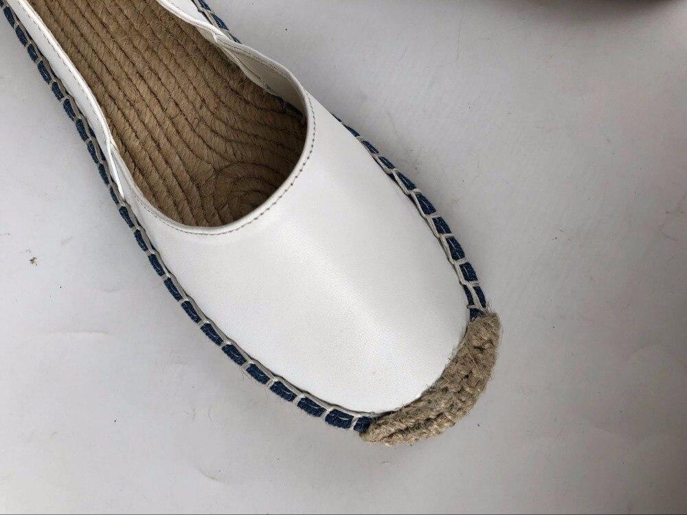Frais D'été La Appartements pur Mori Chanvre Leathersmall Femmes White À Véritable Chaussures Careaymade Linen Main white Le Armure Art Rétro Fille 0wEa4Wxq