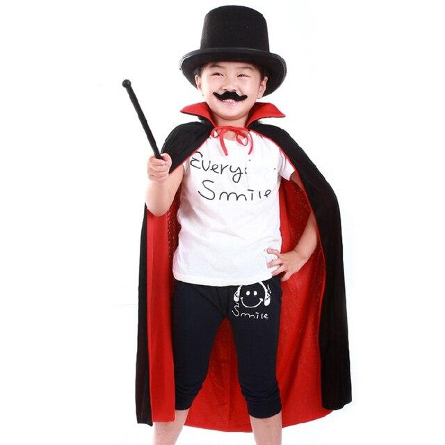 Halloween Cloak Cape Death Cloak Wizard Robe Magician Witch Fantasia Costume for Children