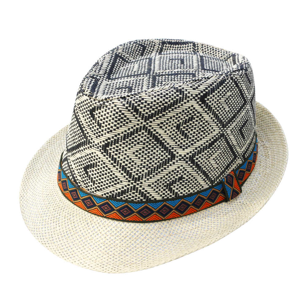 90447947ea3 ... LNPBD Hot 2018 Summer Women Men Straw Sun Hat Elegant Queen Homburg  Gentleman Hat Beach Cap ...