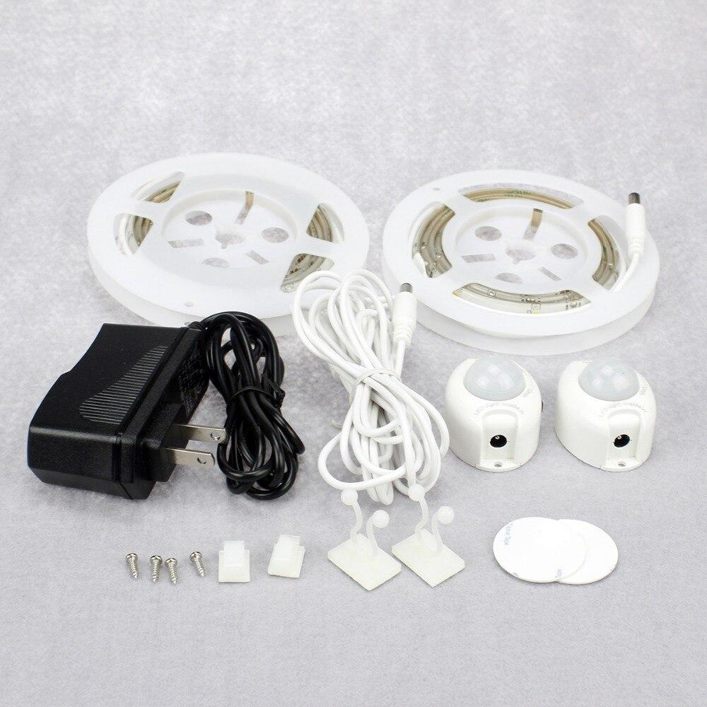 Automatic night lights decorative - Smart Night Light Motion Activated Bed Light Flexible Led Strip Sensor Night Light Illumination With Automatic