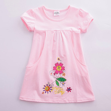 Kids Toddler Flower Girls Summer Cotton Short Sleeve Dresses for 1-6 Years Clothes