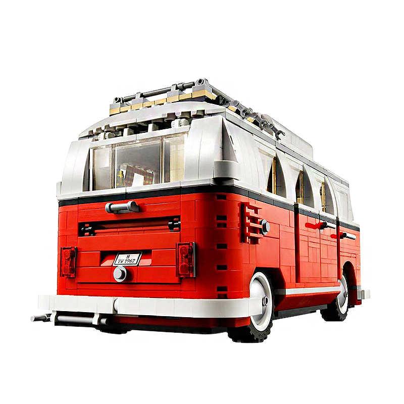 2019 Новый Legoings 1354 шт. техника серии Volkswagen T1 Camper модель автомобиля-фургона строительные блоки Наборы комплект Кирпичи Игрушки