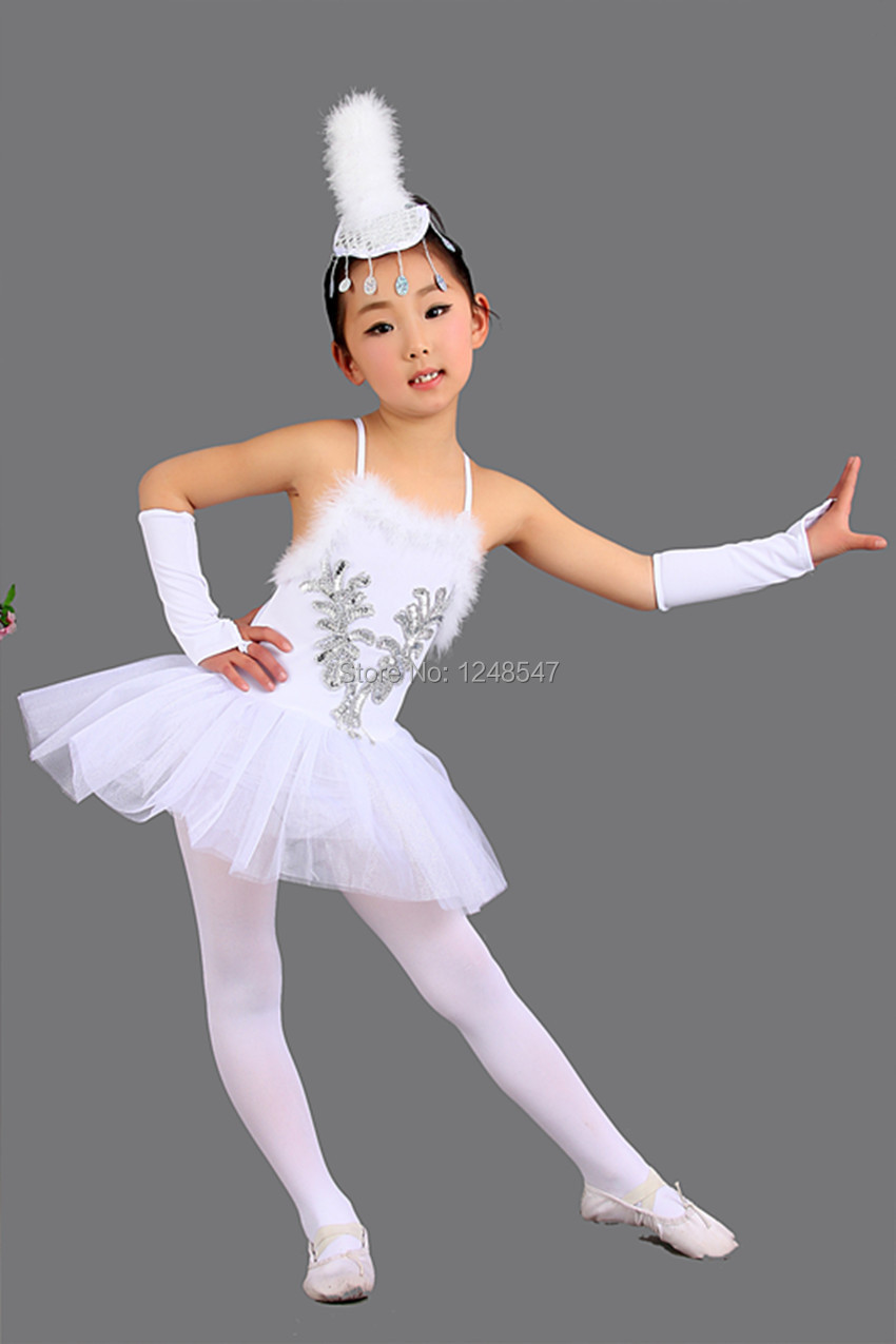 40c7864268a2 Retails Children Elegant Classic White Swan Lake Perform Stage Dress ...
