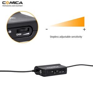 Image 2 - Comica CVM V05 Micrófono de solapa omnidireccional con Clip para cámaras Canon, Nikon, Fuji, iPhone, Samsung, Smartphones