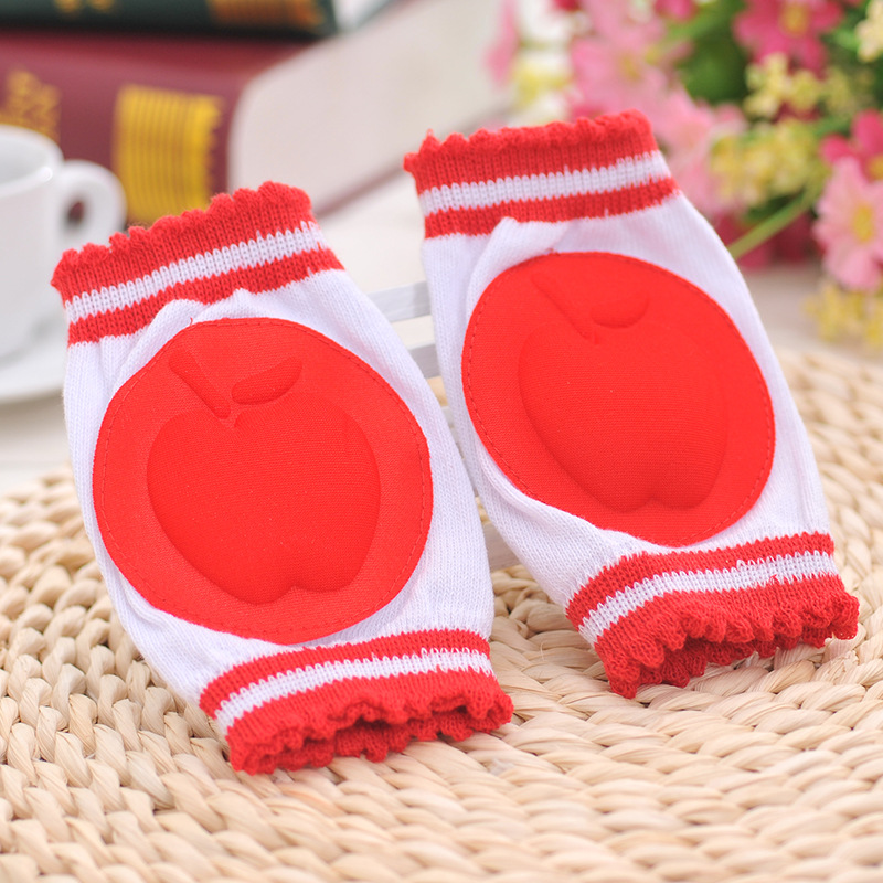 Safety Cotton Baby Elbow Knee Protection Breathable 6 Colors Pads Kids Toddler Fruit Pattern Knee Guard Warmer Crawling