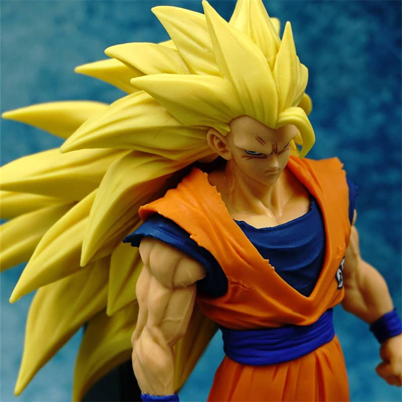 1pc/lot Son Goku Action Figures 14 Gokou's Styles PVC Super Saiyan 3 Collection Model Toy Doll Figuras DBZ Dragon Ball Figures anime dragon ball super saiyan 3 son gokou pvc action figure collectible model toy 18cm kt2841