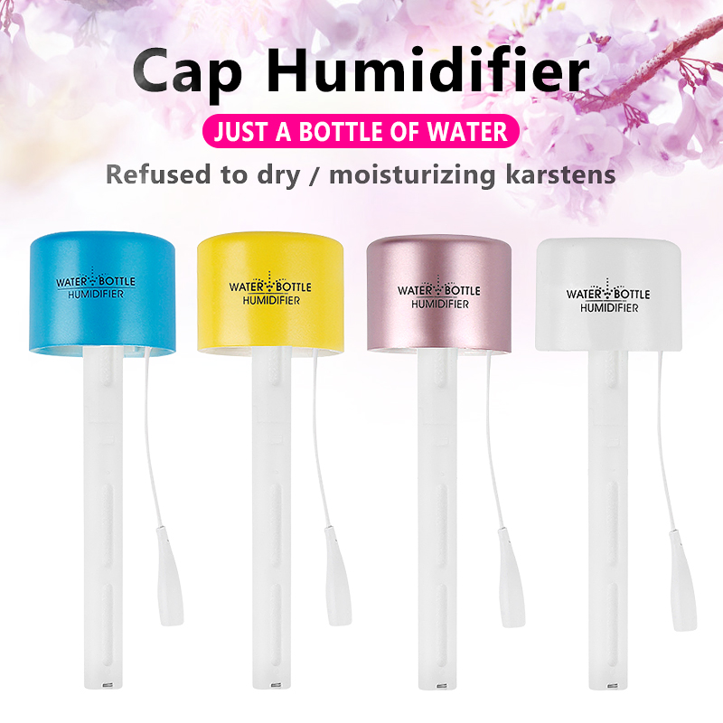 Outdoor Portable Bottle Cap Humidifier Mini USB Air Humidifier Essential Oil Aroma Diffuser Mist Maker for Home Office Travel 农夫 山泉