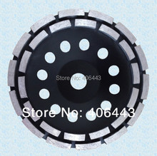 """9"""" Double Row Diamond Cup Grinding Wheels for Angle Grinder for Grinding Granite, Marble, Concrete 230mm * 22.23mm"""