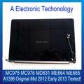 Оригинал 15 ''A1398 Для Apple Macbook Pro Retina ЖК Compelet ассамблея Середина 2012 Начале 2013 MC975 MC976 MD831 ME664 ME665 тестирование
