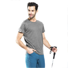 HW2016 NEW arrival  Men Sport Outdoor Slim Quick Dry T-Shirt Short Sleeve Crew Neck Tee