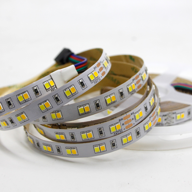 5M 10M Dual Color CRI>95 SMD2835 CCT Dimmable LED Strip Light 24V DC WW CW Color Temperature Adjustable Flexible LED Tape Ribbon5M 10M Dual Color CRI>95 SMD2835 CCT Dimmable LED Strip Light 24V DC WW CW Color Temperature Adjustable Flexible LED Tape Ribbon