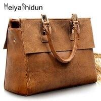 New Vintage Women Handbags Frosted Genuine Leather Bag Female Famous Brands Designer Ladies Shoulder Messenger Bags