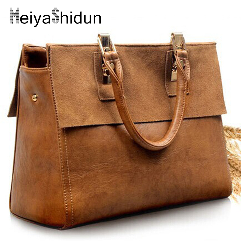 Vintage designer Women handbags leather women bag famous brand Female shoulder messenger bags Tote Big Bolsas sac a main tassen 2016 luxury leather women handbags casual tote bags original designer brand bag ladies famous brands messenger bags sac a main