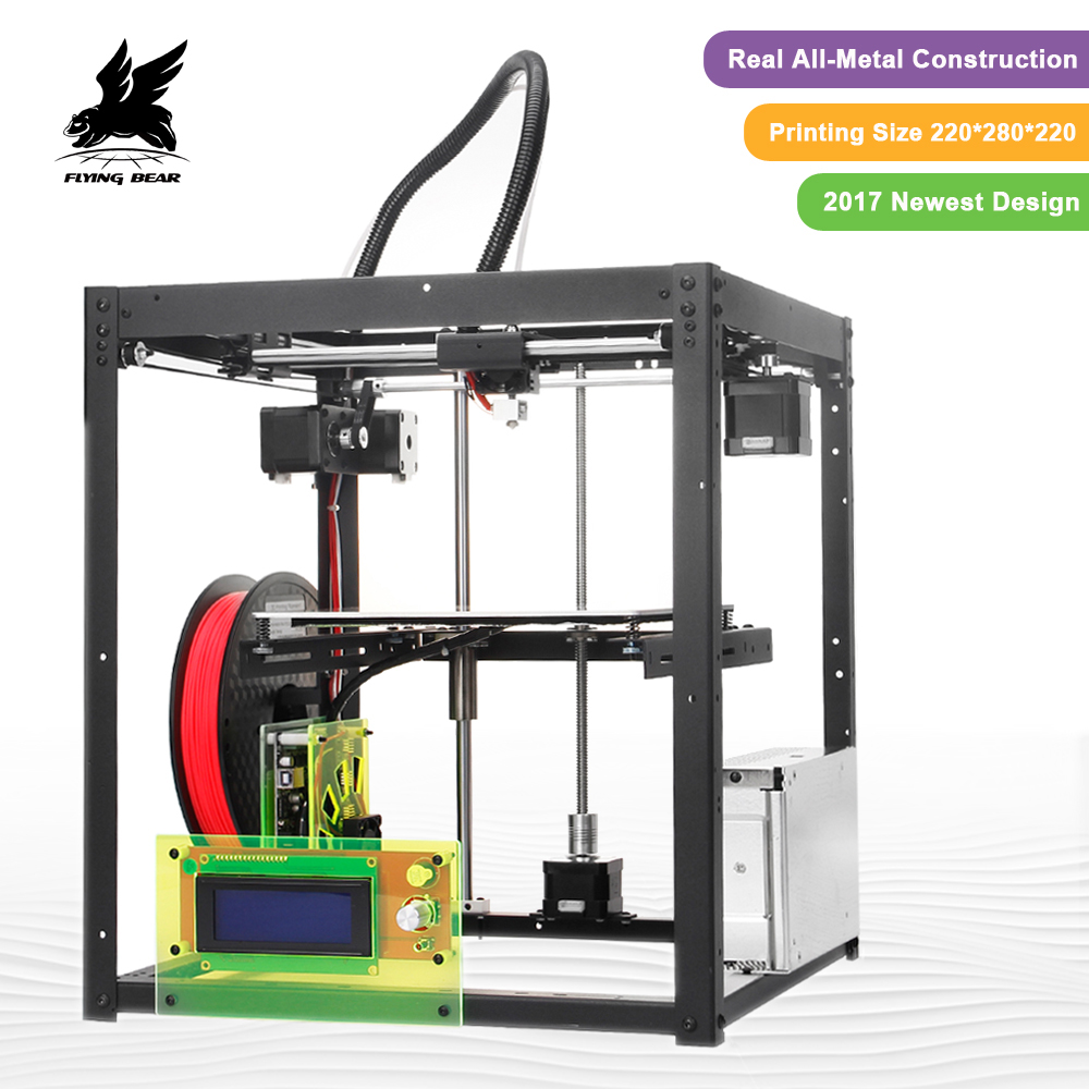 Hot Sale Flyingbear-P905 DIY 3d Printer kit High Quality Full metal Precision Auto leveling Makerbot Structure Gifts цена 2017