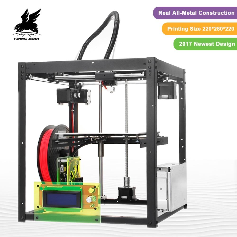 Vente chaude Flyingbear-P905 DIY 3d Imprimante kit Haute Qualité Full metal Précision Auto nivellement Makerbot Structure Cadeaux