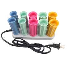 10 Pcs/Set Dry/Wet Hair Curler Electric Magic Rollers Bendy Roller Sticks Set Styling Tools Us Plug