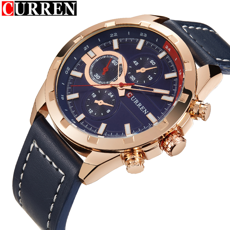 erkek kol saati curren top brand luxury fashion sport leather  men watch relojes hombre 2016 Quartz Wristwatches erkek kol saati keep in touch hand clock men watch luxury calendar black quartz mens wristwatches brand fashion luminous erkek kol saati