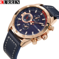 erkek kol saati curren top brand luxury fashion sport leather  men watch relojes hombre 2016 Quartz Wristwatches erkek kol saati