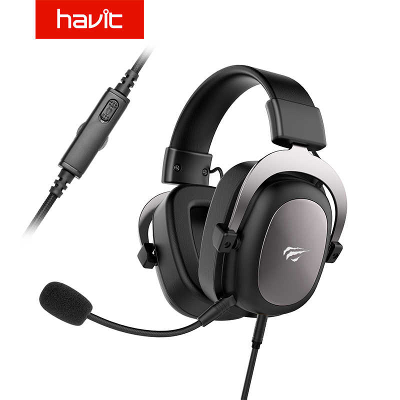 Havit Kabel Headset Gamer PC 3.5 Mm PS4 Headset Surround Sound & HD Mikrofon Gaming Overear Laptop Tablet Gamer