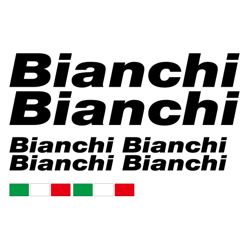 Bianch Bikes Die Cut Stickers Set Frame Decal Sticker VINYL Decals Kit Fix Fixi