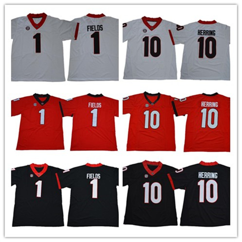 83c7d35a8 ... ireland mens georgia bulldogs 10 malik herring 1 justin fields mens  college football stitched jersey free