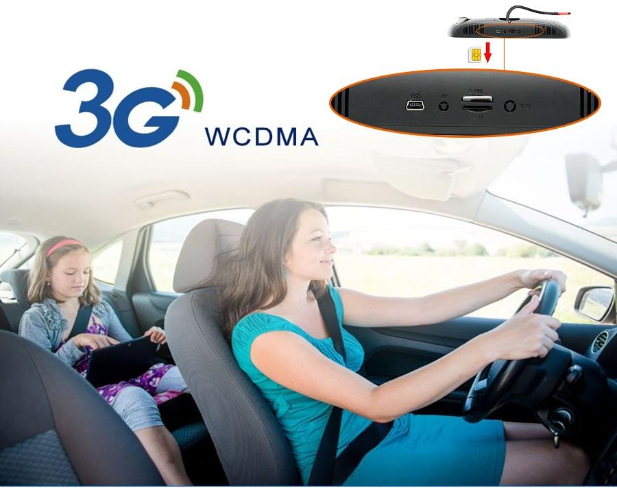 "Junsun 7"" Car GPS Navigation Android 5.0 Special 3G DVR Camera Rearview Mirror Dual Lens Truck gps sat nav Navitel Europe Maps 3"