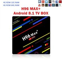 H96 MAX plus 4GB 64GB Android 8.1 TV Box RK3328 Quad Core 4G/32G USB 3.0 Smart 4K Set Top Box Media Player Box Youtube Netflix недорого