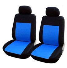 Oxford Car Seat Cover Red Black 2pc Bench for Auto w/Belt Pads