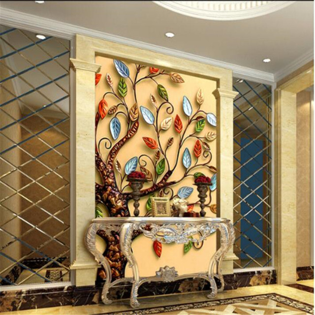 3D photo wallpaper gold rich cash cow walkway oil painting ...
