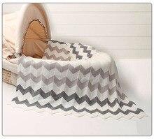 Gestrickte Kinder Decke Handmade Woolen Blended Soft Wave Print Acryl Babydecke Neugeborenen Swaddle Sofa Decke 102 * 76 cm