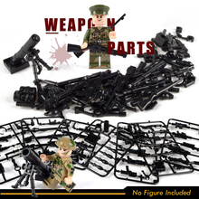 Military Guns Swat Police Weapon Accessory Pack Building Blocks WW2 Army Soldier Figure Compatible small figure Toy for children цена