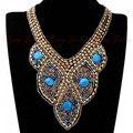 Envío Libre Al Por Mayor Nuevo Estilo Antiguo de La Cinta Bohemia Perla de Resina De Colores Clavos Hechos A Mano collar Falso Del Collar de Las Mujeres