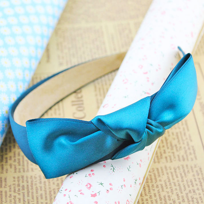 Ribbon cloth art bowknot wide hair hoop hair accessories, free home delivery